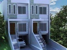 casa com fachadas pintadas com textura - Pesquisa Google Small House Design, Modern House Design, Lofts, Duplex Plans, Townhouse Designs, Dream House Interior, Apartment Plans, Modular Homes, Home Photo