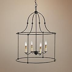 """Currey and Company Fitzjames 25 """"Wide Lantern Chandelier - # Outdoor Chandelier, Lantern Chandelier, Chandelier Pendant Lights, Lantern Pendant, Modern Chandelier, Entryway Chandelier, Chandelier Ideas, Iron Chandeliers, Lanterns Decor"""