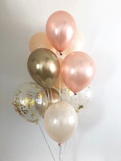 Bridal Shower Decorations Elegant - New ideas Birthday Decorations, Baby Shower Decorations, Rose Gold Party Decorations, Blush And Gold, Peach Blush, Gold Gold, Peach Rose, Ideas Decoracion Cumpleaños, Rose Gold Chrome