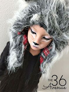 Halloween Costumes - This Wolf Costume is supers cute, comfortable and perfect for kids and adults. You can do this DIY Wolf Makeup with items that you may already have at home! Girls Wolf Costume, Girl Werewolf Costume, Werewolf Makeup, Cool Halloween Makeup, Easy Halloween Costumes, Halloween Ideas, Pirate Costumes, Couple Halloween, Halloween 2017