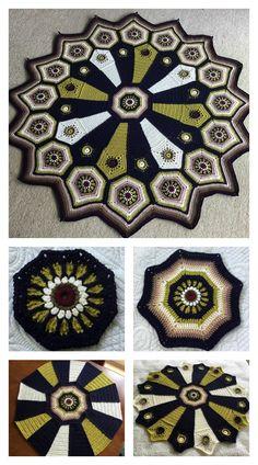 Carousel Blanket Free Crochet Pattern #freecrochetpatterns #blanket