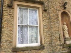Palatial lace panel pure cotton