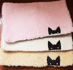 Meow mat.  ^..^= Meow Resort - A Relaxing Paradise for Cat Lovers / We have lots of cat-themed items, come shop with us.