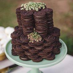 Oreo cake. Literally. Photo: brit.co #yum #oreos #wedpics #weddingcake