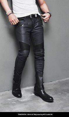 http://www.guylook.com/best-ever-waxed-leather-seaming-skinny-biker-pants-109.html