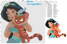 Schema punto croce Jasmine con Sultan il tigrotto 100x96 20 colori.jpg (2.67 MB) Osservato 296 volte