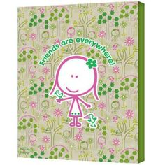 FeLittle People Friends Are Everywhere Wrapped Canvas, Size: 18 x 24, Multicolor