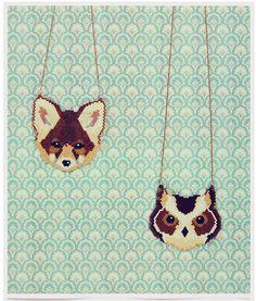 Animales con abalorios. #collar