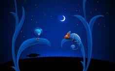 Alien Moon and Chameleon