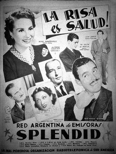 Publicidad de programación de RADIO SPLENDID, Buenos Aires, década del 40.