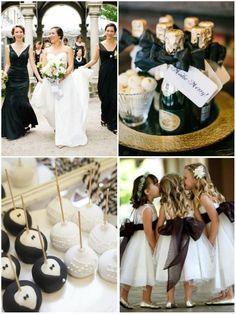 Classic Black and White Wedding