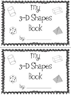 Geometry: 3-D Shapes Book!