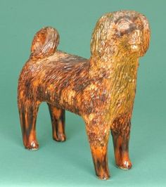 Large-Sized Standing Redware Dog by the Bell Family.