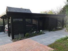 Her er Danmarks flotteste carport Carport Garage, Pergola Carport, Pergola Plans, Diy Pergola, Carport Designs, Pergola Designs, Timber Pergola, Backyard, Patio