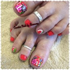 Creative Nails by Rosemary #photooftheday #beach #prettyincoral #springtoes #pedicure #toerings #followme #instagood #bookyourappointment #nailpro #nailsmagazine call to schedule your appointment (850)516-9423 or book online via my website @ http://www.creativenailsbyrosemary.com or facebook #styleseat
