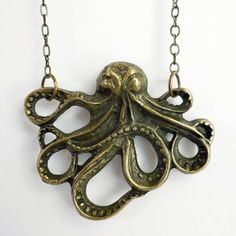Under the Sea - Octopus Necklace  want want want