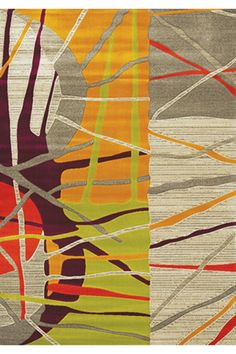 Topaz Abstract Texture Rug in Multicolor