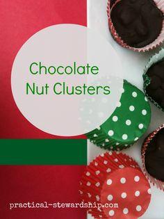 FAST! 2 or 3 Ingredient Nut Clusters @ practical-stewardship.com