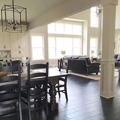 Neutral modern farmhouse with open floor plan | See this Instagram post by @farmhouseredefined
