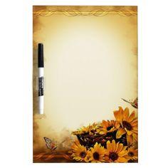 Sunflowers Dry-Erase Boards  #Sunflowers #Butterflies #DryEraseBoard