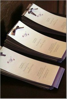 Wedding, Ceremony, Programs, Church - Programs