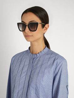 Cat-eye acetate sunglasses | Prada Eyewear | MATCHESFASHION.COM