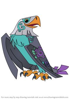 How to Draw Enchanted Eagle from Animal Jam step by step, learn drawing by this tutorial for kids and adults. Drawing Tutorials, Drawing Tips, Eagle Face, Learn Drawing, Animal Jam, Step By Step Drawing, Cartoon Drawings, Enchanted, Puzzle