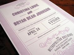 Rabe & Co / Wedding invitations for Bryan and Christina