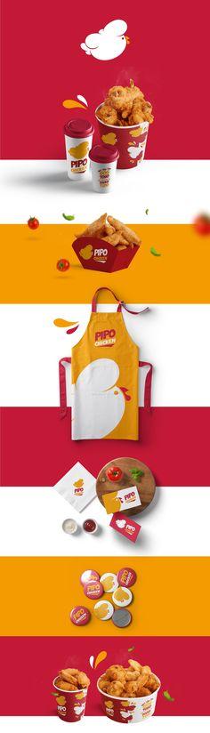 Bakery Branding, Restaurant Branding, Logo Branding, Brand Identity Design, Graphic Design Branding, Logo Design, Chicken Logo, Brand Presentation, Id Design