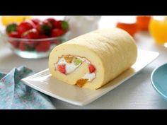 Recipe World How To Make Japanese Fruit Roll Cake - Recipe World