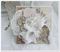 Scrapiniec inspirations on blogspot: Two pearl cards