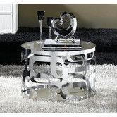 Found it at Wayfair Australia - Laser Cut Stainless Steel Side Table with Tempered Glass Top & Mirror Base