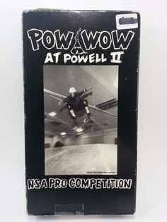 RARE Pow Wow at Powell II NSA Pro Competition 1992 Skateboarding Original VHS