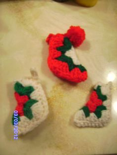 crochet christmas stockings  Mama used to make these. I have several of hers.