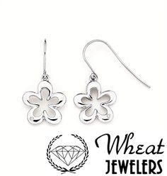 Open Flower Dangle Earrings available at Wheat Jewelers