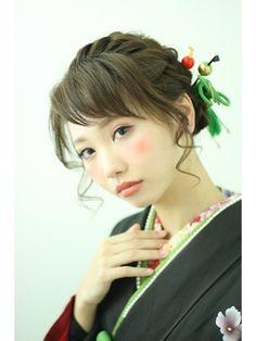 卒業式・成人式髪型・ヘアスタイル・編み込みヘアアレンジ☆