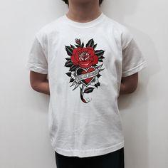 baby t shirt with old school print di Hardtimestore su Etsy