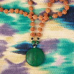 Adventure Mala- manifesting lots of FUN, green(abundance), heart chakra energy, commitment,  and protection from negativity