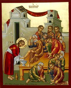 Washing of the Feet by Costas Gerasimou