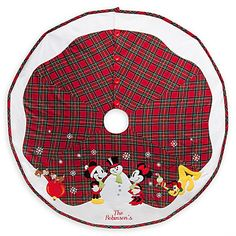 Mickey Mouse And Friends Holiday Tree Skirt   Personalizable