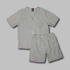 Hanes Men's Pajama Set Woven Short Sleeve – Green Plaid