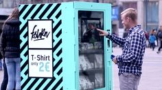 Fast Fashion Vending Machine In Berlin Shows Consumers How Their Cheap Clothes Are Really Made Euro, Cheap Shirts, T Shirts, Fast Fashion, Cheap Fashion, Cannes, Good News, Guerrilla Marketing, Viral Marketing