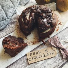 torta vegana di pere e cioccolato
