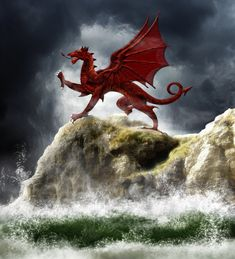 Y Ddraig Goch (Welsh Dragon). The Romans used the dragon as one of their symbols of power. Into battle they would carry a metal head of a dragon in which they would light a fire. This would burn fiercely in the wind and seems to be where all the legends of fire breathing dragons come from. When the Romans left Britain it seems that the dragon was adopted by others as their symbol of power. Hence the Welsh Dragon of today.