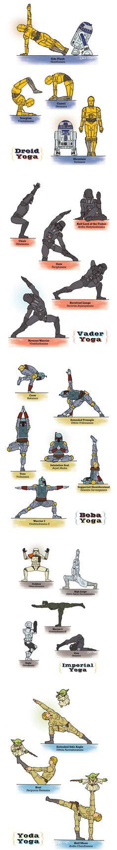 Star Wars Yoga by Rob Osborne: Here is a link http://www.etsy.com/shop/RobOsborne #Illustration #Yoga #Star_Wars