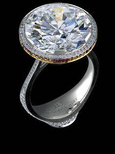 Jewellery Theatre: Jewellery Art-Stones.18K White Gold,  diamonds, rubies.