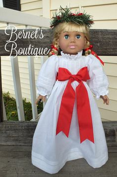 American Girl Doll clothesSt. Lucia Gown by BernetsBoutique, $30.00