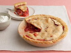 Get Grandma's Strawberry-Rhubarb Pie Recipe from Food Network