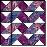 Wild Waves. Great tutorial on sewing quarter-square triangles that all turn out the same!