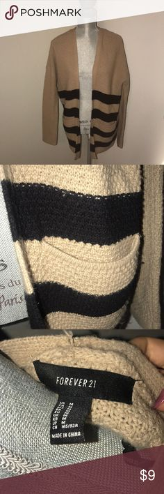 Forever 21 Striped knit cardigan. Good condition knit cardigan. Size M. Forever 21 Sweaters Cardigans